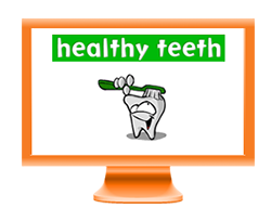 healthy teeth cartoon