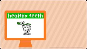 Healthy teeth cartoon