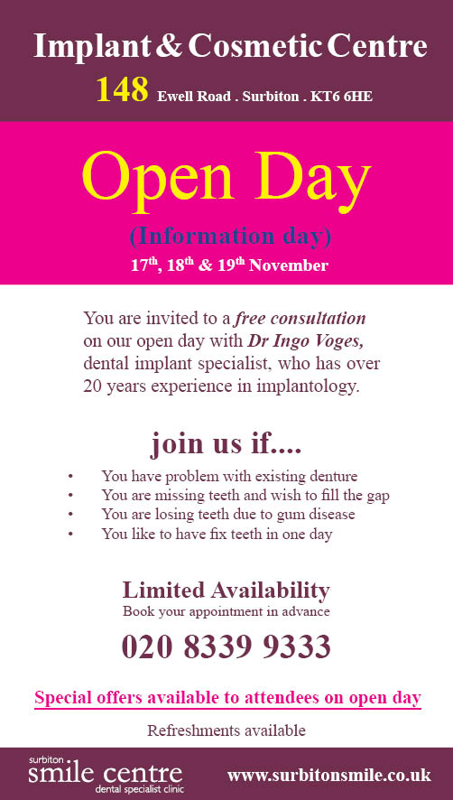 Implant and cosmetics open day